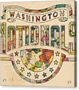 Washington Nationals Poster Art Acrylic Print