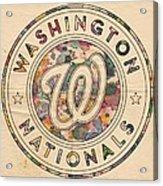 Washington Nationals Vintage Art Acrylic Print