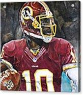 Washington Redskins' Robert Griffin IIi Acrylic Print by Michael  Pattison