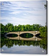 Washington Road Bridge Over Lake Carnegie Princeton Acrylic Print