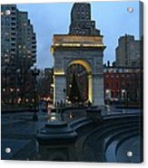 Washington Square In New York At Dusk Acrylic Print