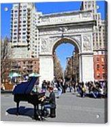 Washington Square Pianist Acrylic Print