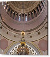 Washington State Capitol Building Chandelier Closeup Acrylic Print