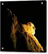 Washingtons Profile At Night Acrylic Print