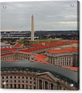 Washintgon Monument From The Tower Of The Old Post Office Tower Acrylic Print