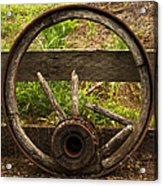 Www. Wasted Wagon Wheel Acrylic Print