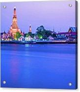 Wat Arun Temple Bangkok Thailand Acrylic Print