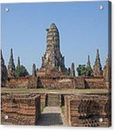 Wat Chaiwatthanaram From The East Dtha0187 Acrylic Print
