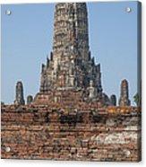 Wat Chaiwatthanaram Ubosot Platform And Buddha Images Dtha0189 Acrylic Print
