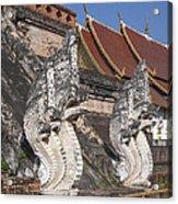 Wat Chedi Luang Phra Chedi Luang Five-headed Naga Dthcm0052 Acrylic Print