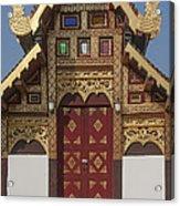 Wat Duang Dee Phra Ubosot Door  Dthcm0297 Acrylic Print