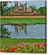 Wat Mahathat In13th Century Sukhothai Historical Park-thailand Acrylic Print