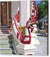 Wat Mahawanaram Ubosot Stair Naga Dthu656 Acrylic Print