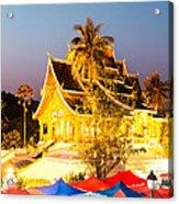 Wat Mai Temple And Night Market - Luang Prabang - Laos Acrylic Print