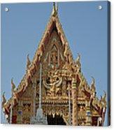 Wat Na Kwai Ubosot Front Gable Dthu161 Acrylic Print