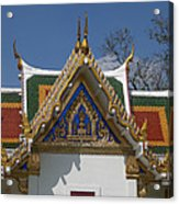 Wat Phrasri Mahathat Ubosot North Wing Gable Dthb1469 Acrylic Print
