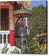 Wat Phuak Hong Phra Wihan Monk Figure Dthcm0579 Acrylic Print