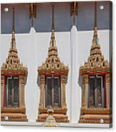 Wat Sapum Thammaram Ubosot Windows Dthp227 Acrylic Print