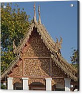 Wat Sri Don Chai Phra Ubosot Gable Dthcm0095 Acrylic Print