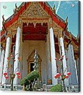 Wat Suthat In Bangkok-thailand Acrylic Print