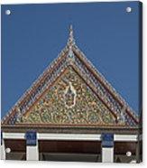 Wat Thewasunthon Preaching Hall Gable Dthb1423 Acrylic Print