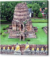 Wat Yai Chai Mongkol Acrylic Print