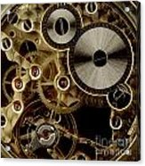 Watch Mechanism. Close-up Acrylic Print by Bernard Jaubert