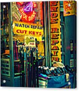 Watch Repair Shop - Keys Made Here Acrylic Print