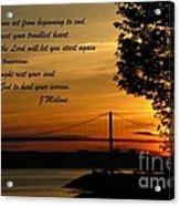 Watch The Sun Set Acrylic Print by John Malone