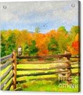 Watching Autumn Acrylic Print