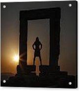 Watching Sunset Acrylic Print