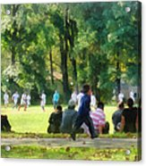 Watching The Soccer Game Acrylic Print