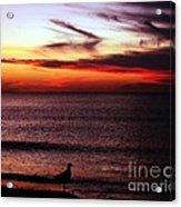 Watching The Sunset Acrylic Print by Doris Wood