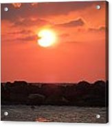 Watching The Sunset Over The Mediterranian Acrylic Print