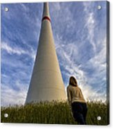 Watching Wind Power Acrylic Print