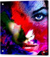Watching You Through Color Acrylic Print
