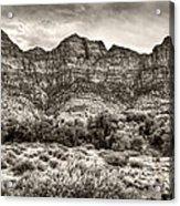 Watchman Trail In Sepia - Zion Acrylic Print