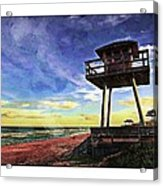 Watchtower On The Beach Acrylic Print