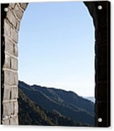 Watchtower View From The Great Wall 1082 Acrylic Print