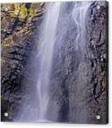 Watefall At The Mountains Acrylic Print