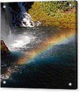 Water And Rainbow Acrylic Print