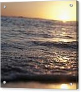 Water At Sunset Acrylic Print by Brandon Tabiolo