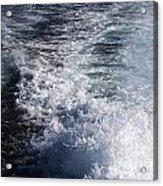 Water Behind A Ship Acrylic Print