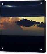 Water Below Clouds Above Acrylic Print
