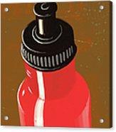 Water Bottle Illustration Acrylic Print