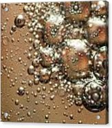 Water Bubbles Abstraction Acrylic Print