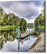 Water Bus Stop Bute Park Cardiff Acrylic Print