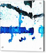 Water Dance - Blue And White Art By Sharon Cummings Acrylic Print