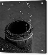 Water Dripping Up The Spout Acrylic Print