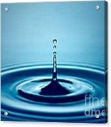 Water Drop Splash Acrylic Print by Johan Swanepoel